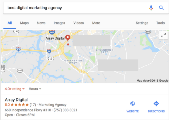google maps my business listing
