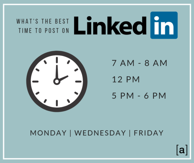 What's the best time to post on LinkedIn?