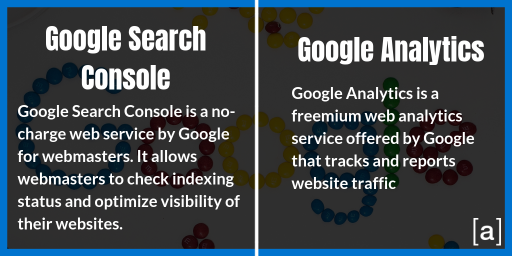 Google Search Console and Google Analytics