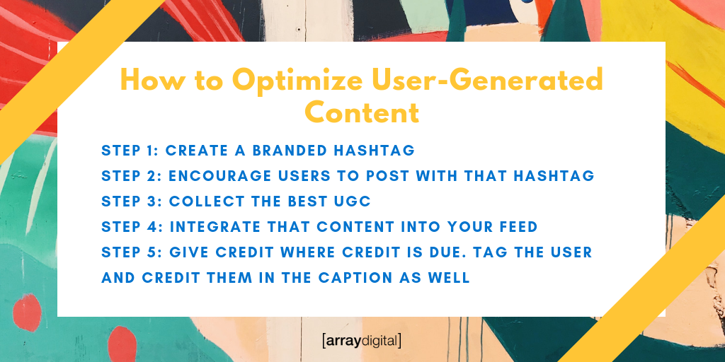 How to use user-generated content